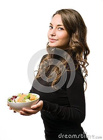 Salade verte fraîche.
