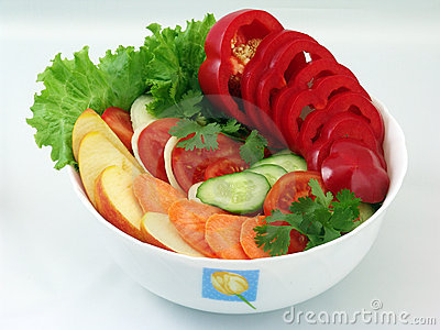Salads from vegetables