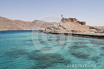 Salah El Din Castle near Taba in Egypt