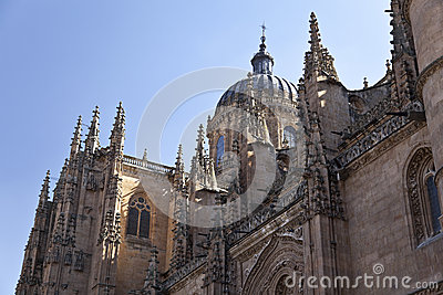 Salamanca New Cathedral (Catedral Nueva) Stock Images - Image: 25398894