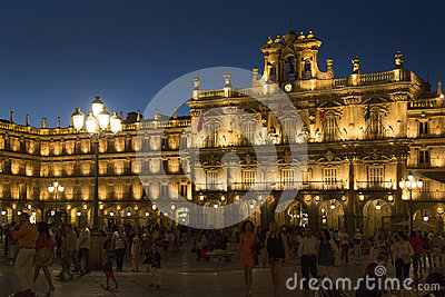 Salamanca - Plaza Major - Spain Editorial Stock Photo