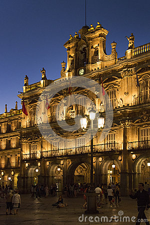 Salamanca - Plaza Major - Spain Editorial Stock Image