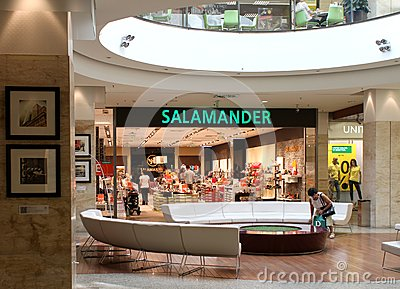 Salamander shop in mall Editorial Photography