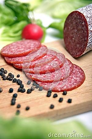 Free Salami Sausage Stock Image - 1993511