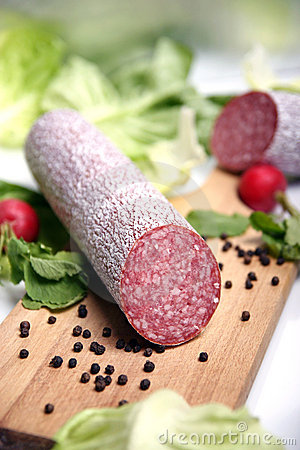 Free Salami Sausage Royalty Free Stock Photos - 1993678