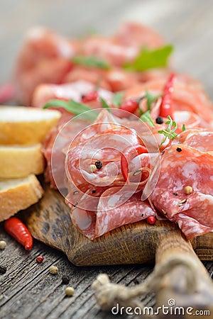 Free Salami Snack Stock Photos - 54043123