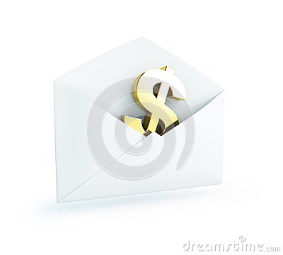 Salary mail dollar