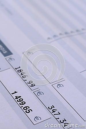 Salary payroll detail