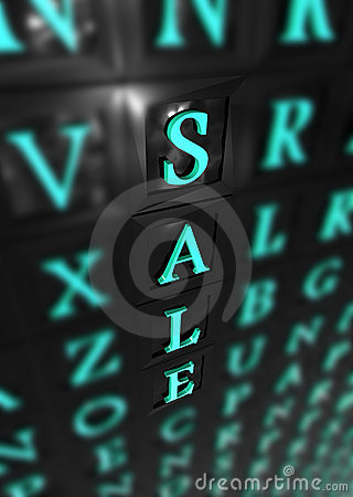 Sale 3d word