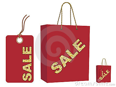 Sale bag and tag set