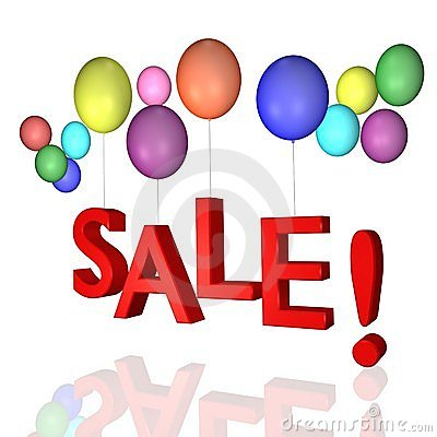 Sale with balloons!
