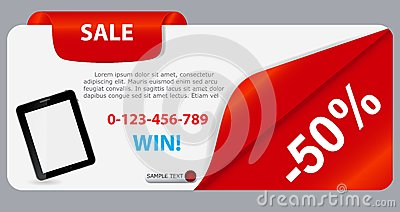 Sale banner with place for your text. vector