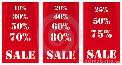Sale Banners Red Royalty Free Stock Images - Image: 8117339