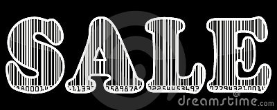 Sale barcode sticker