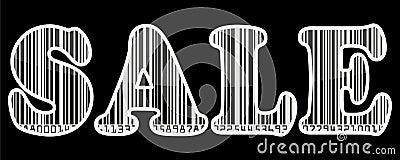Sale barcode sticker