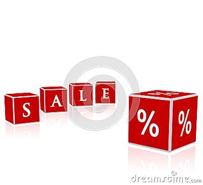 Sale blocks illustration