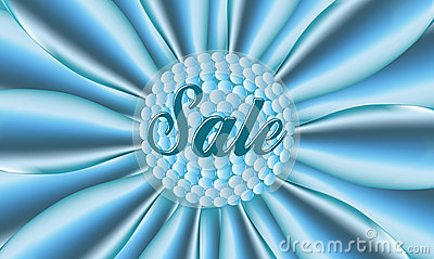 Sale blue poster