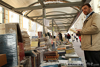Sale of books Editorial Image