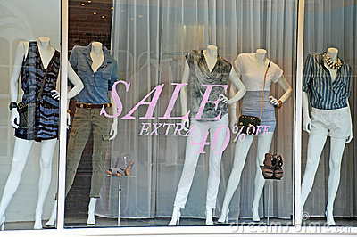 Sale Boutique Window Mannequins