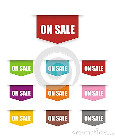 On sale button/ sign