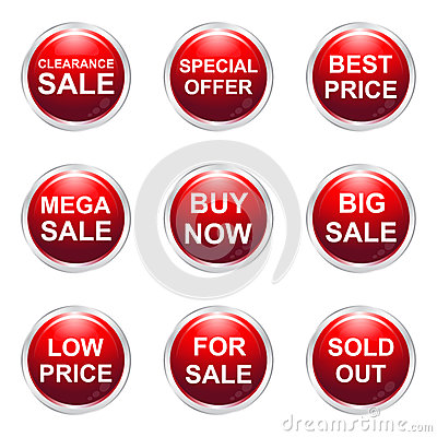 Sale buttons