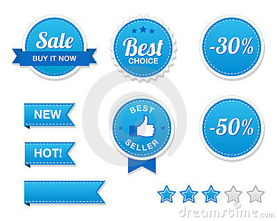 Sale Buttons Set - retro