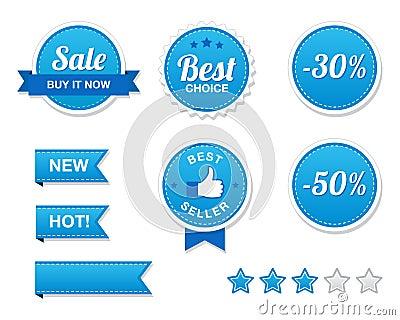 Sale Buttons Set - retro