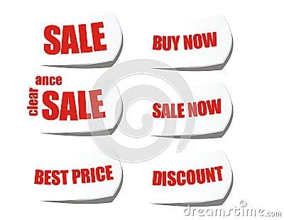Sale buy now cut off sticker label
