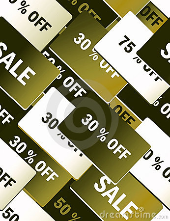 Sale cards - seamless pattern