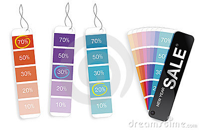 SALE color swatch for various percent