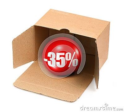 Sale concept - 35 percent