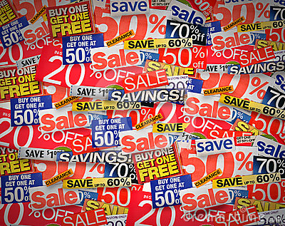 Sale and Coupon Discount Background