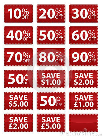 Sale Coupons EPS