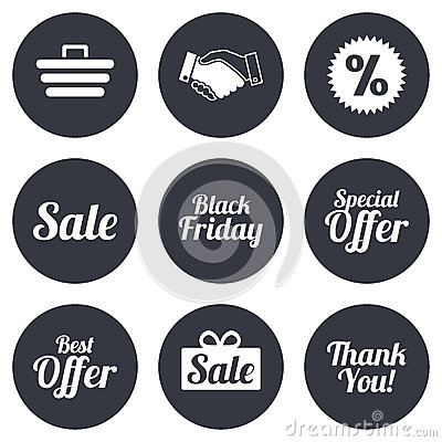 Sale Discounts Icon. Shopping, Deal Signs Stock Vector - Image ...
