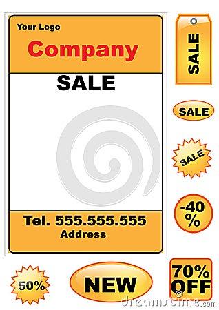 Sale elements set - vector