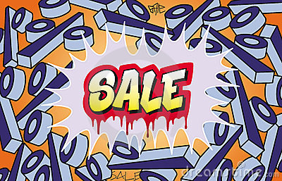 Sale Graffiti Stock Images - Image: 23218244