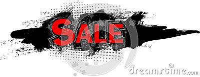 Sale Grungy Style Illustration