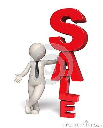 Sale icon - 3d business man