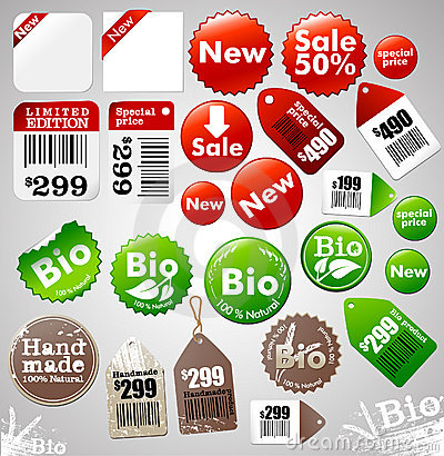 Free Sale Icons And Labels Stock Photography - 9342082