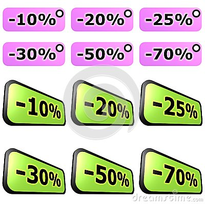 Sale label sets