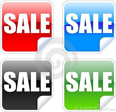 Sale Labels Stock Photography - Image: 10715712