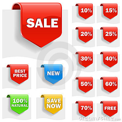 Free Sale Labels Royalty Free Stock Images - 18355199