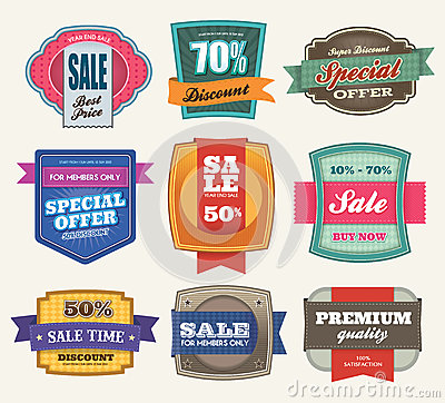 Free Sale Labels Stock Image - 25686811