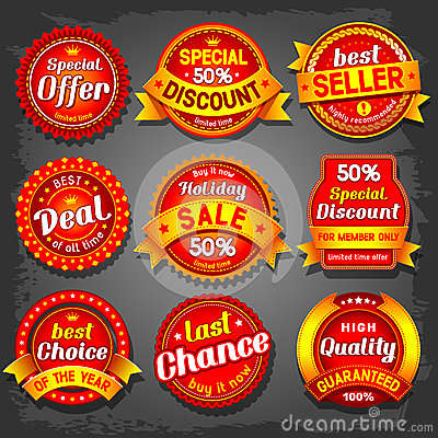 Free Sale Labels Royalty Free Stock Photo - 32419875