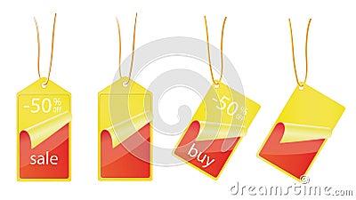 Sale labels - 50  OFF