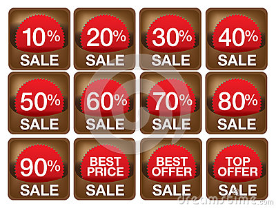 Sale labels illustrations.