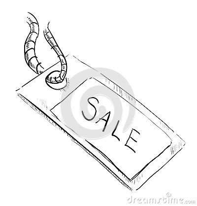 Sale luggage tag icon