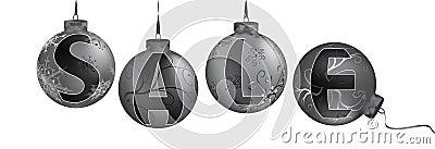 Sale on the metalic christmas balls