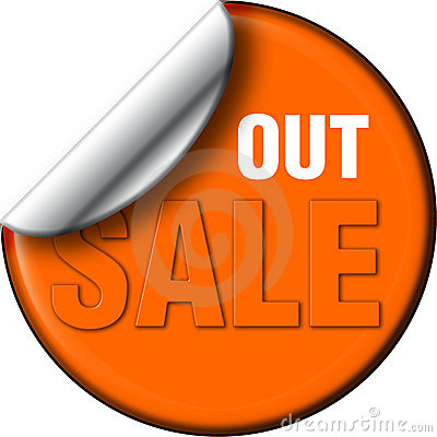 Sale out decal