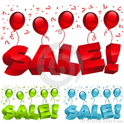 Sale Party Balloons